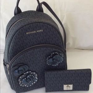 MK Abbey Backpack/Matching Wallet Set